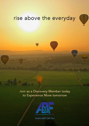 The ABF are launching the Discovery Membership on Australia Day at Parramatta Park. This new membership is your gateway to ballooning in Australia with a range of great benefits. Visit the Membership options page to find out more. Members will be distributing this new flyer to the public at the event.